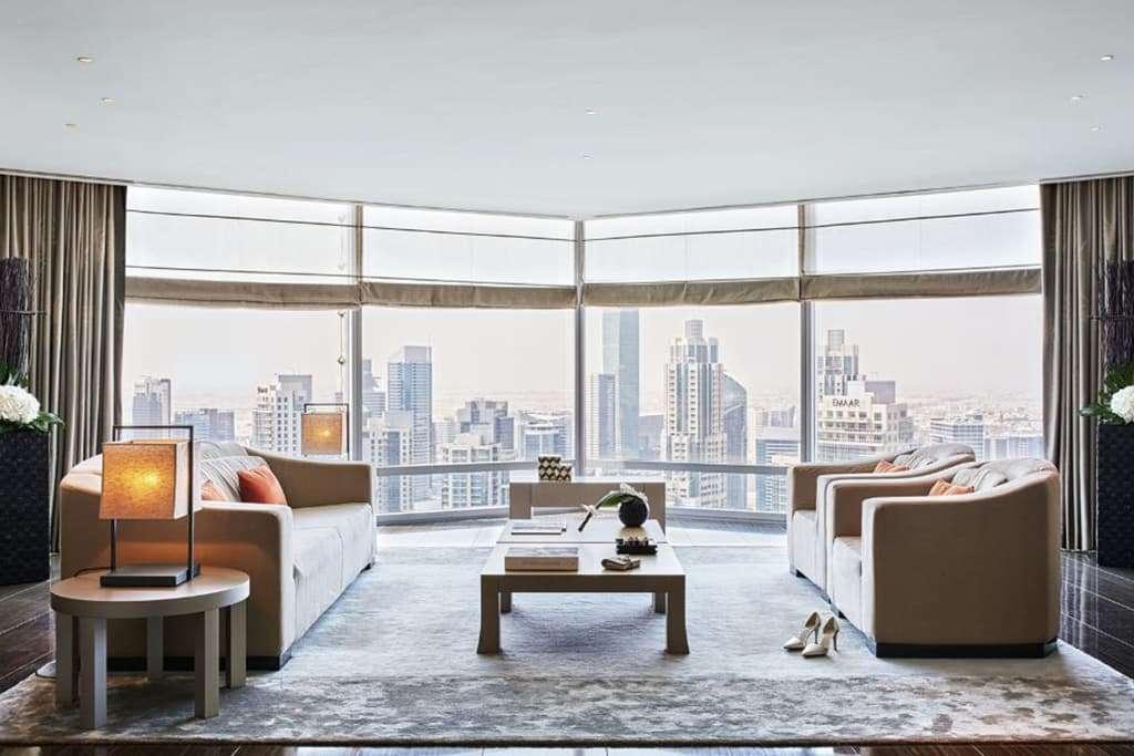 Armani Signature Suite Living Area