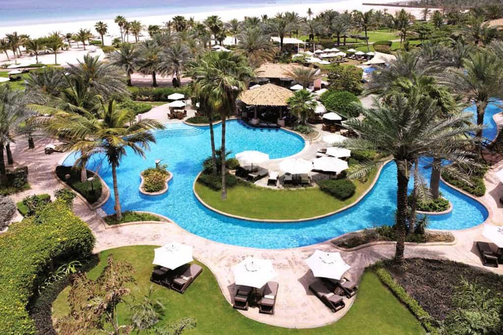Beautiful view of Outdoor Swimming Pool in Ritz Carlton jumeirah beach