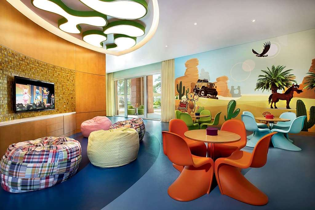 Bright and colorful Ritz Kids Club Room