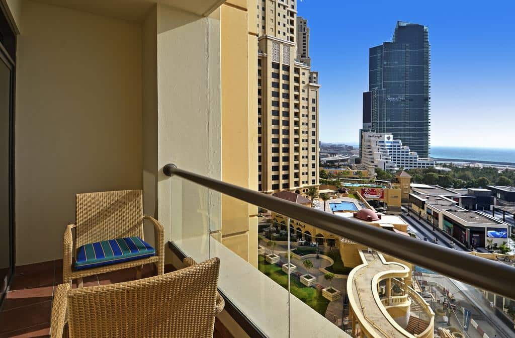 City view from the Roda Amwaj Suites