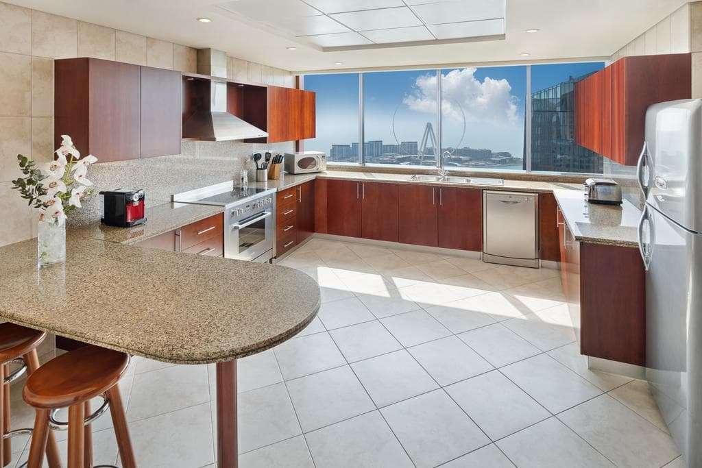 JA Oasis Beach Tower Apartment Kitchen