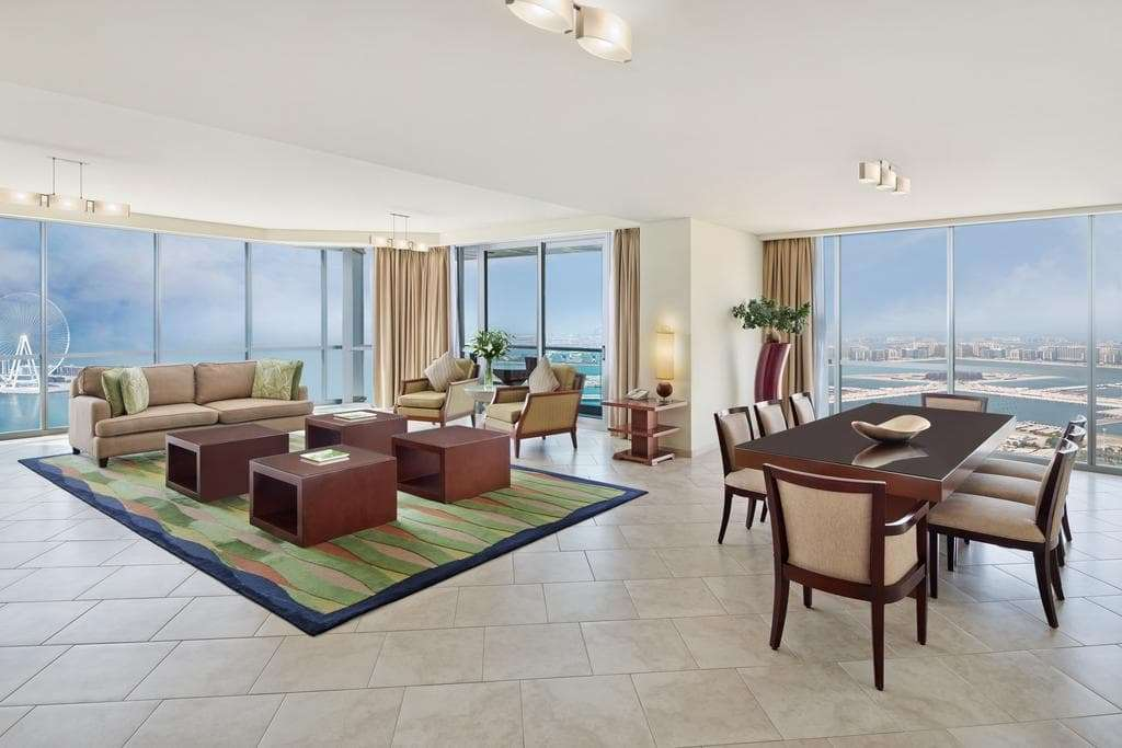 JA Oasis Beach Tower Living and dining area