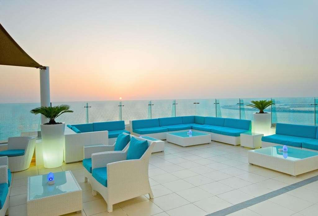 Outdoor Sitting area with beach view