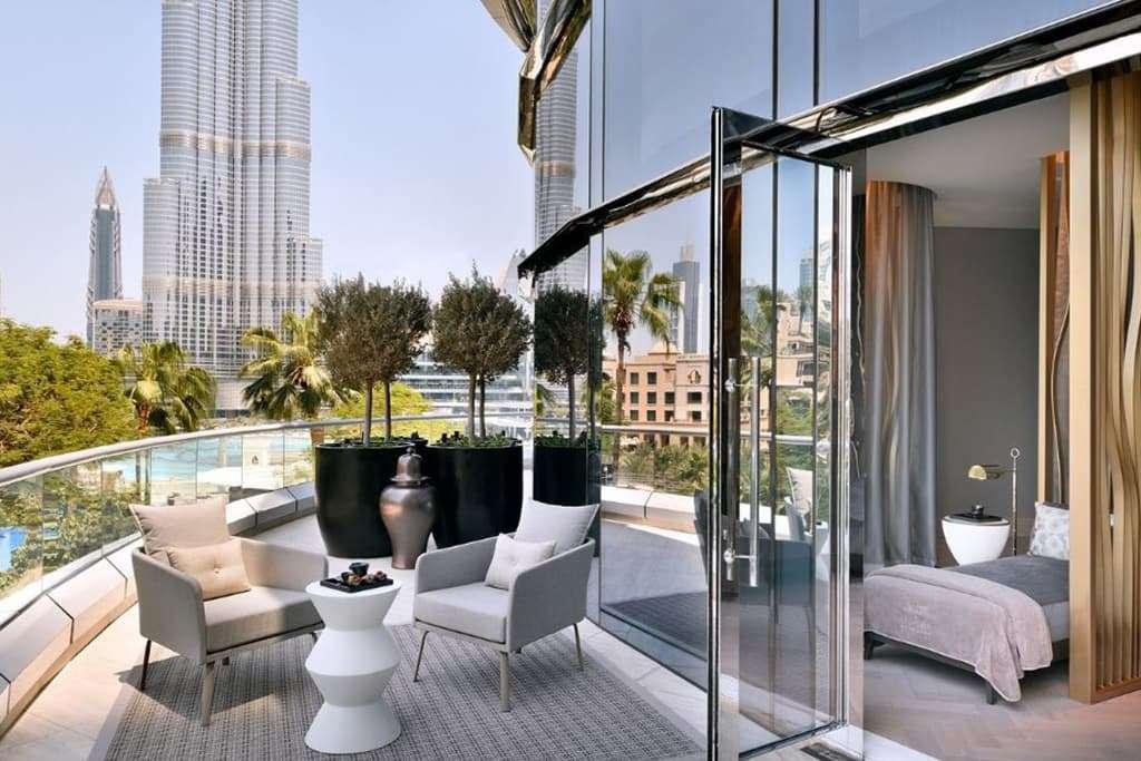 Room Balcony with Burj Khalifa View