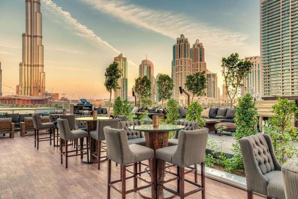 Treehouse an urban rooftop oasis overlooking Burj Khalifa